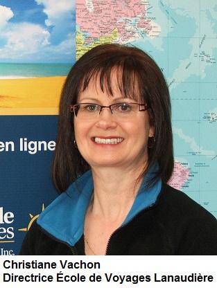 Christiane Vachon - Directrice de l'école de Voyages Lanaudière inc.